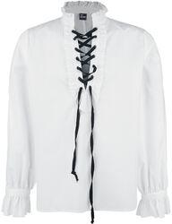 Košeľa s riasením a šnurovaním
