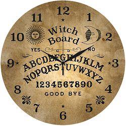Sklenené nástenné hodiny Ouija