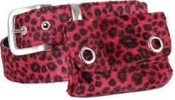 Fur belt with pocket