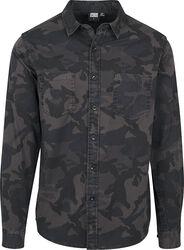 Košeľa s kamufláž vzorom