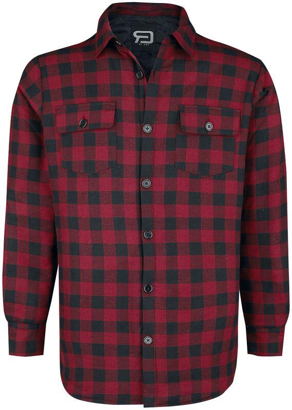 Koskovaná košeľa - červeno/čierna
