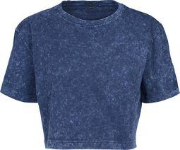 Dámske krátke tričko s ''vyžratým'' efektom