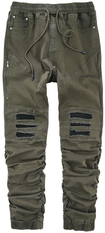 Ležérne kapsáčové nohavice s motorkárskymi detailmi