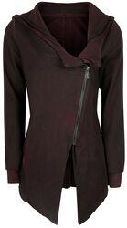 Vintage kabát s asymetrickým zipsom