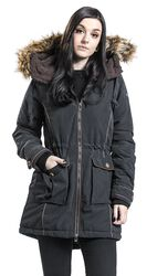 Zimný kabát s imitáciou kožušiny