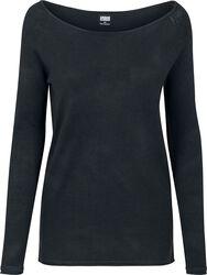 Dámsky dlhý sveter s raglanovými rukávmi