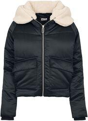 Dámská bunda s kapucňou a plyšom