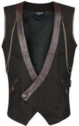 Pánska dotická vesta s dvojradovým zapínaním