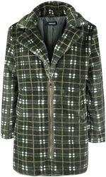 Károvaný kabát z imitácie kožušiny Teenage Dirtbag