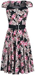 Letné šaty s rozšírenou sukňou v štýle 50. rokov