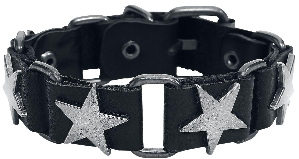 38d71efc6 Black Stars Kožený náramok | EMP