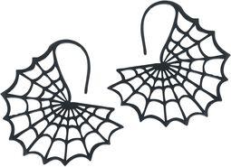 Náušnice Black Spiderweb