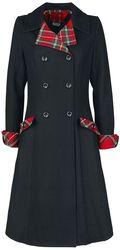 Kontrastný tartanový kabát Vanessa