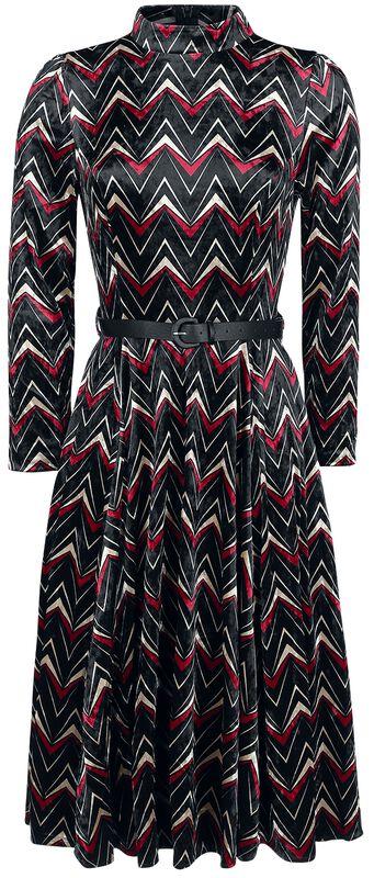 Zamatové šaty Chevron