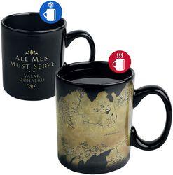 Hrnček Westeros Map s potlačou, ktorá sa pod vplyvom tepla mení