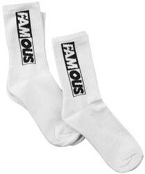 Balenie 2 párov ponožiek s nápisom Famous