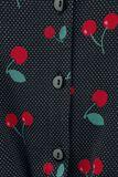 Krátka blúzka Cherry Dots