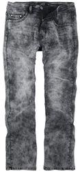 Sivé džínsy Johnny s opraným efektom