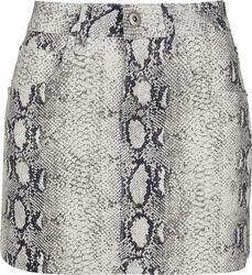 Dámska strečová sukňa s haďou potlačou