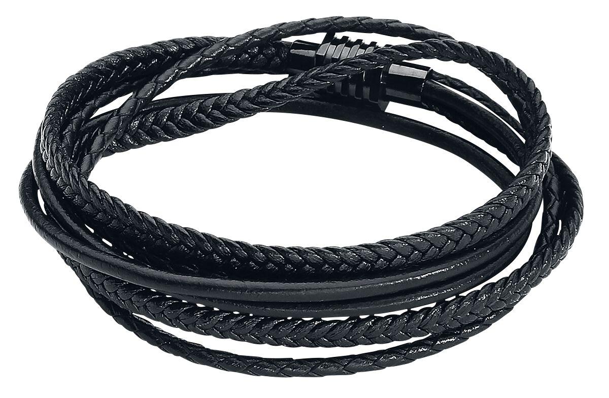 a7a4d7667 Kožený pletený náramok Black Trio | Wildcat Kožený náramok | EMP