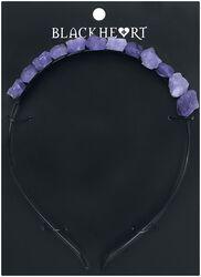 S fialovými neopracovanými kameňmi