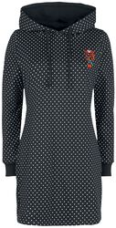 Teplákové šaty Cherries Dots s kapucňou
