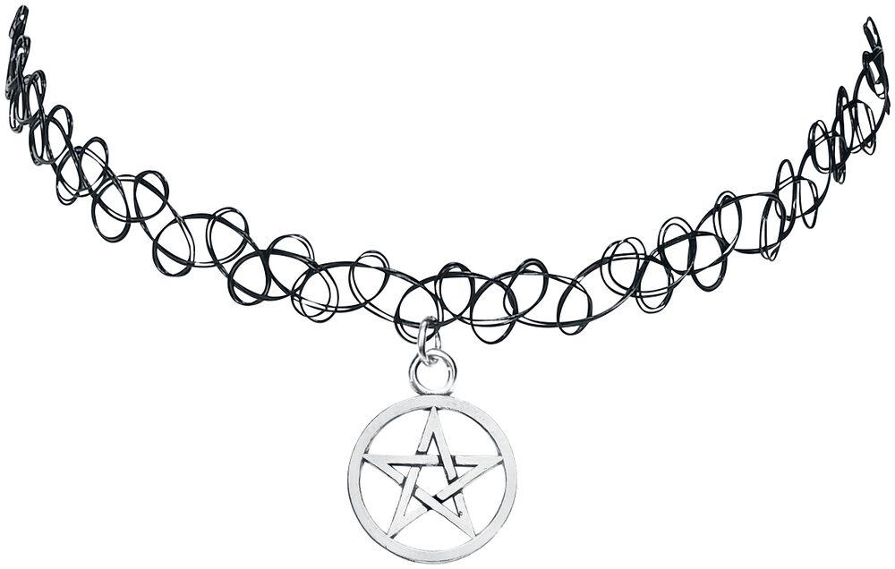 Tattoo náhrdelník s pentagramom