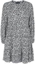 Krasokorčuliarske šaty Ditsy s potlačou a gombíkmi