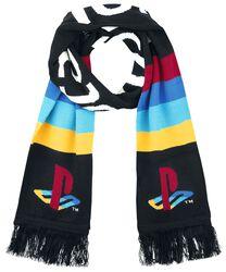 Pletený šál s veľkým logom
