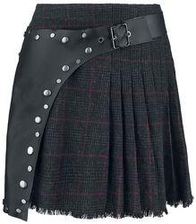 Kockovaná sukňa so zásterou