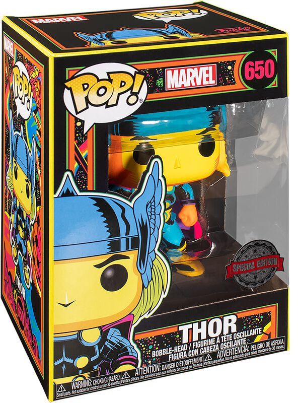 Vinylová figúrka č. 650 Black Light - Thor