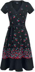 Zavinovacie šaty Falling Cherries
