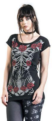 Tričko s potlačou s kostrou