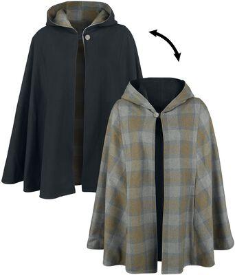 Obojstranný tartanový plášť
