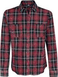 Kockovaná košeľa s ľahkým opraným efektom