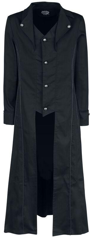 Klasický čierny kabát