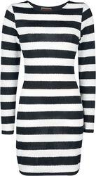 Prúžkované svetrové šaty
