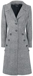 Sivý kabát v štýle 40.rokov Nicole