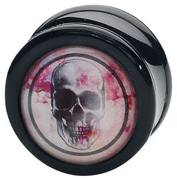 Plug Rose Punch - Skull Black