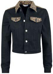 20511a879b3e Leopardia denimová bunda Rock n Roll