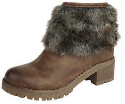 Topánky s imitáciou kožušiny
