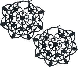Kruhové náušnice Floral
