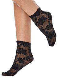 Čipkované členkové ponožky