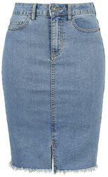 Denimová puzdrová sukňa Be Lexi HW MB