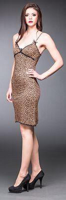 Leopardie šaty s čipkou