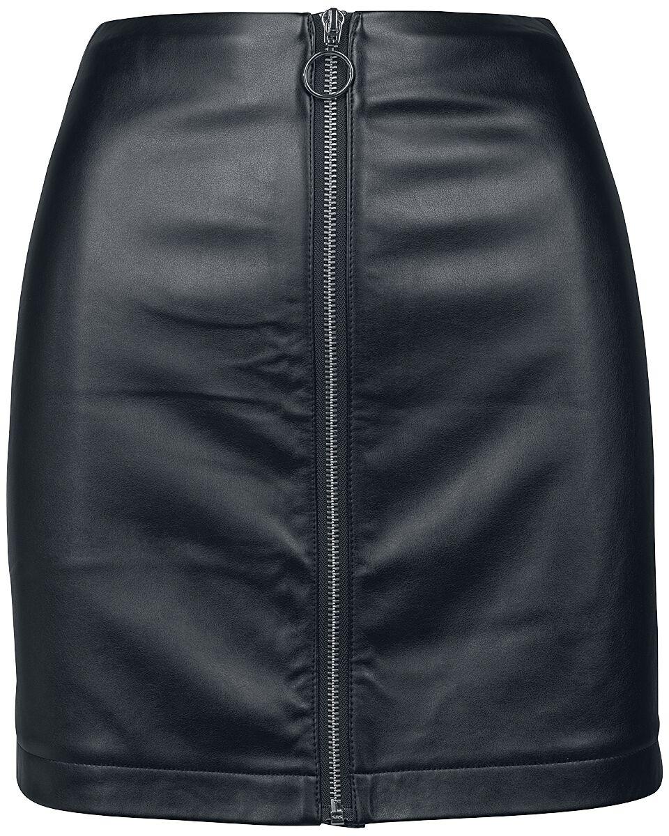 f7c8a0a0f82e Dámska koženková sukňa na zips. Krátka sukňa