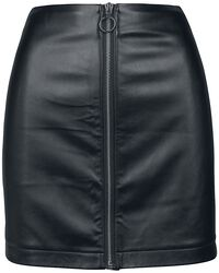 Dámska koženková sukňa na zips
