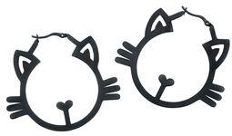 Kruhové náušnice s mačkami