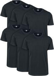 Balenie 6 ks Basic tričiek