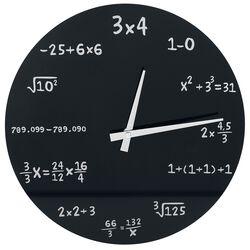 Sklenené nástenné hodiny Mathematics